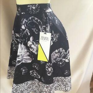 Prabal Gurung Black & White Flower Skirt
